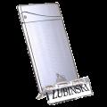 Зажигалка для сигар Lubinski турбо серебристая в полоску GR31